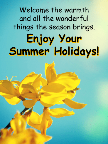 Yellow flowers in the sun – Summer Cards