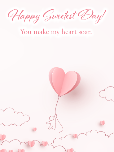 Flying Heart – Happy Sweetest Day Card