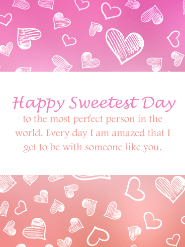 Most Perfect Person – Happy Sweetest Day Card