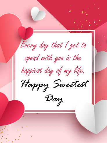 Heartfelt Note – Happy Sweetest Day Card