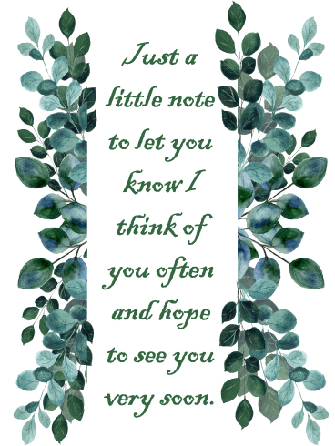 Nature Leaves – Thinking of You Card