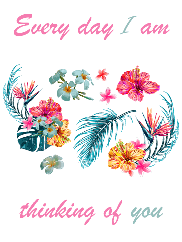 Everyday Flowers – Thinking of You Card