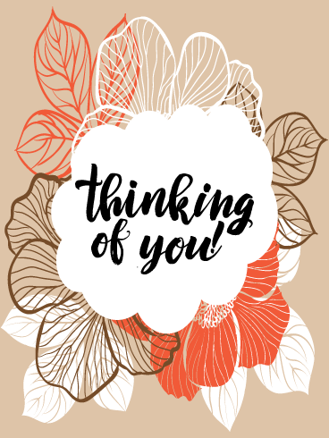 Rustic Flowers – Thinking of You Card