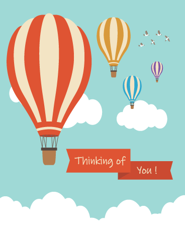 Hot Air Balloons – Thinking of You Card