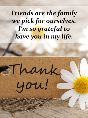 Daisy wishes – Thank You Card for Friends