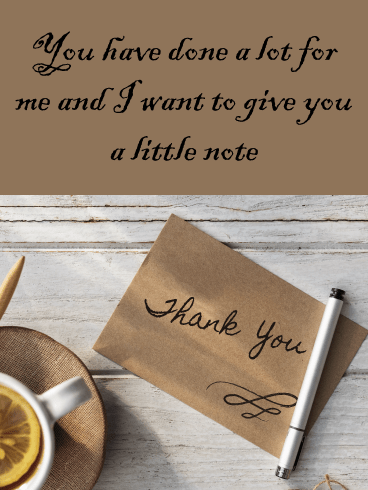 A Little Note – Thank You Card