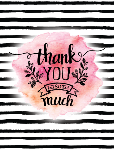 Striped Water Color – Thank You Card