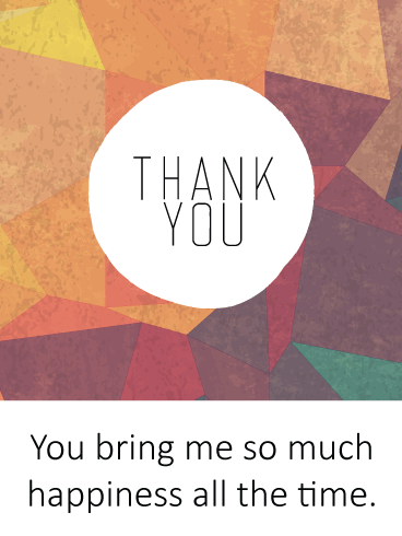 Colorful Polygons – Thank You Card