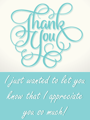 Flowing Teal – Thank You Card