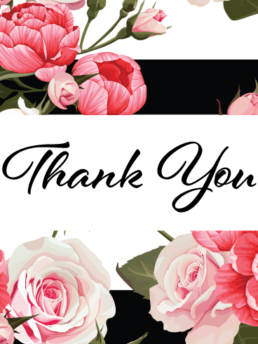Brush Stroke Flowers – Thank You Card