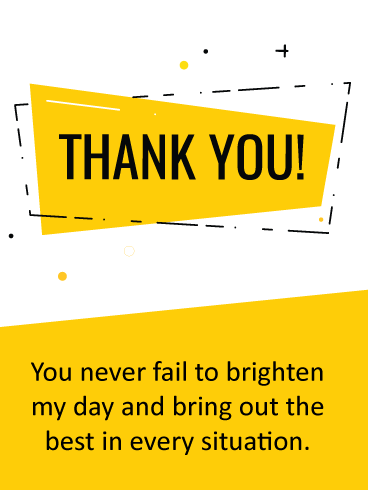 Brighten My Day – Thank You Card
