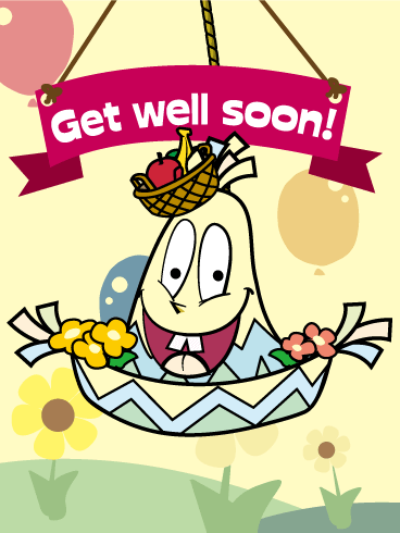 Mexican Hat Piñata Get Well Card