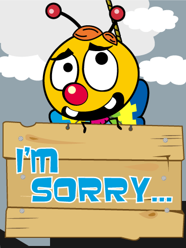 I'm Sorry... Piñata Everyday Card
