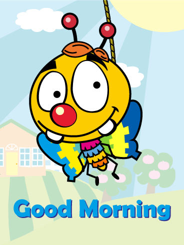 Bee Piñata Morning Card