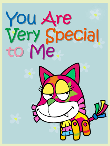 Cat Piñata Friendship Card