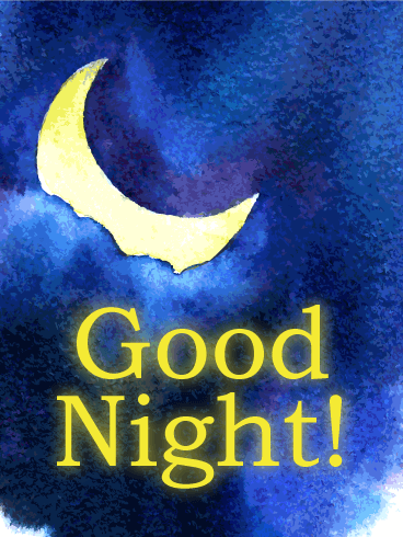 Moon Light Good Night Wish Card
