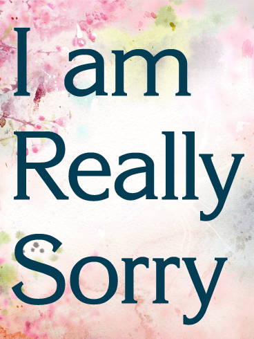 I am Really Sorry Card