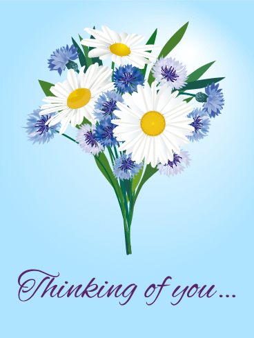 Flower Bouquet Thinking of You Card