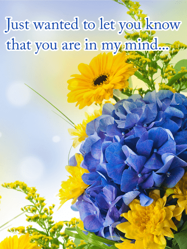 You are in My Mind - Thinking of You Card