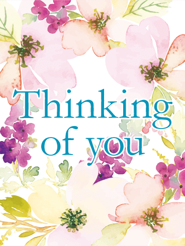 Flowery Thinking of You Card