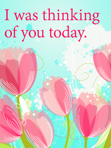 Tulip Thinking of You Card