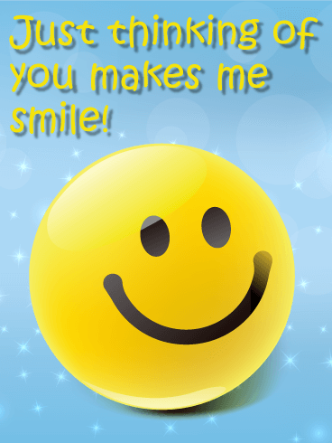 Smiley Face Thinking of You Card