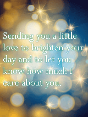 Sending You a Little Love - Thinking of You Card