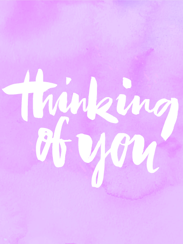 Pink Thinking of You Card