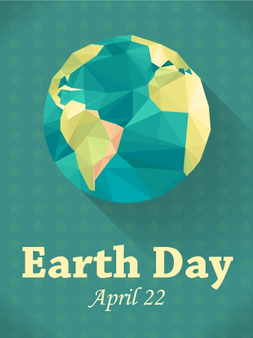 Green Happy Earth Day Card
