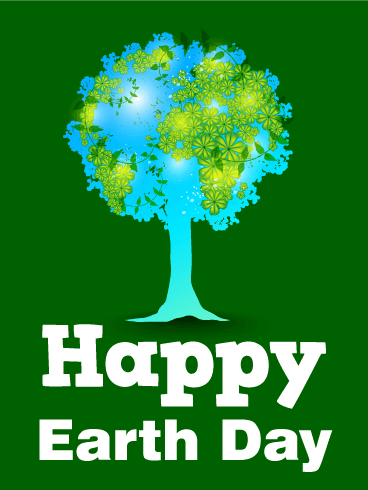 Happy Earth Day Tree Card