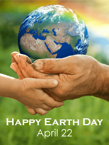 Holding Hands - Happy Earth Day Card
