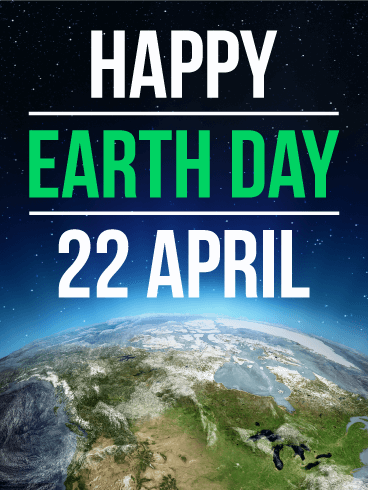Blue Planet - Happy Earth Day Card