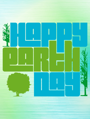 Blue & Green Happy Earth Day Card