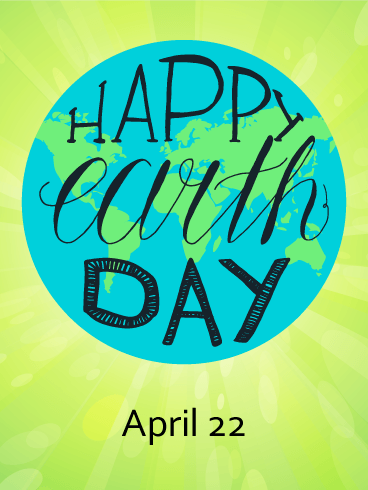 Bright Globe Happy Earth Day Card