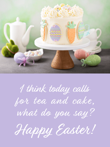 Tea and Cake- Happy Easter Card for Her