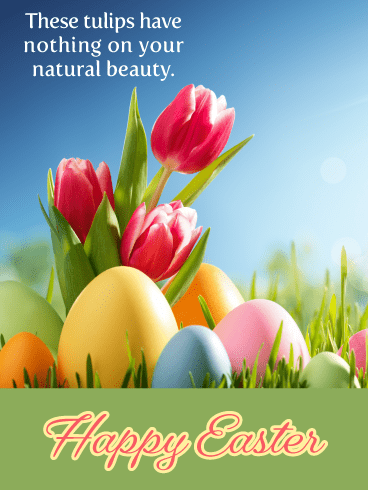 Natural Beauty- Happy Easter Card for Her