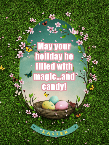 Magic and Candy- Happy Easter Card for Her