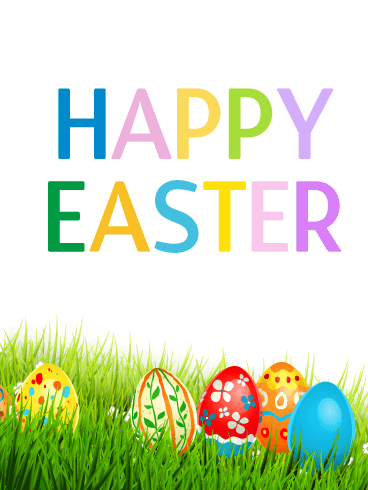 Happy Easter! Colorful Easter Egg Card