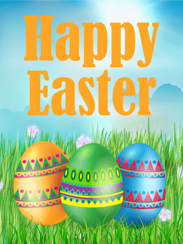 Colorful Easter Egg Card