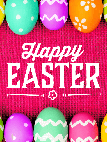 Vivid Happy Easter Card
