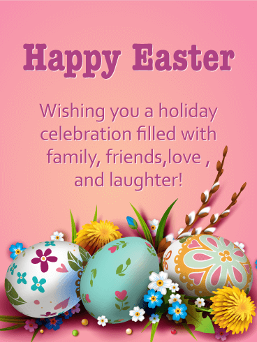 Enjoy Your Holiday! Happy Easter Card