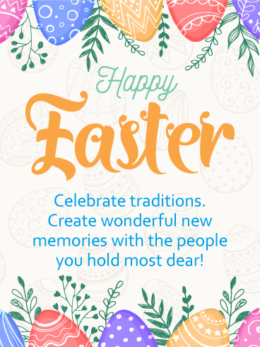 Celebrate Traditions - Happy Easter Card