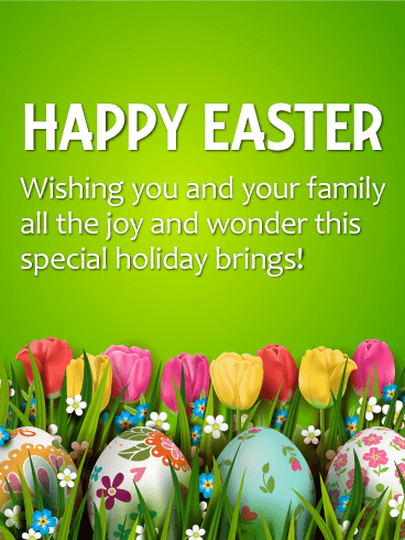 Wishing you all the joy happy easter card birthday greeting wishing you all the joy happy easter card m4hsunfo