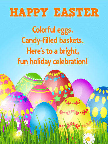 Bright & Fun Holiday Celebration! Happy Easter Card