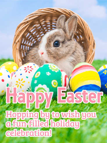 Cute Bunny Happy Easter Card