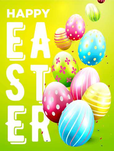 Bright & Vivid Happy Easter Card