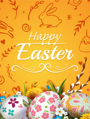 Charming Happy Easter Card