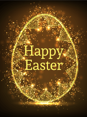 Glowing Happy Easter Card