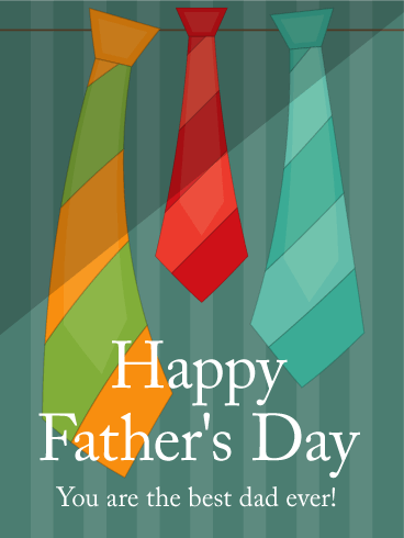 Colorful Tie Father's Day Card