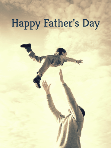 Dad & Son Happy Father's Day Card